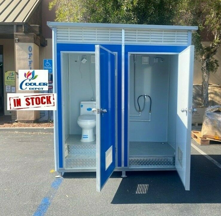 New Unisex Portable Toilet w/Sink Restroom Bathroom Shower 1