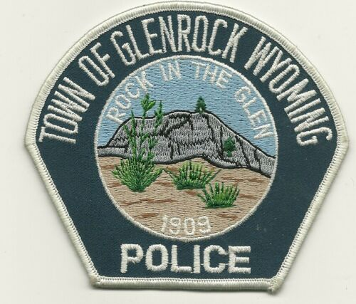 Glenrock  Police State Wyoming WY patch Scenic