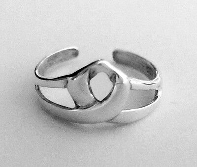 Sterling Silver Celtic simple knot size small adjustable dainty toe ring