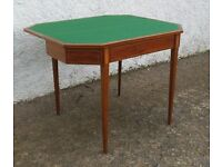 Georgian Inlaid Card table / Hall Table Walnut / Mahogany