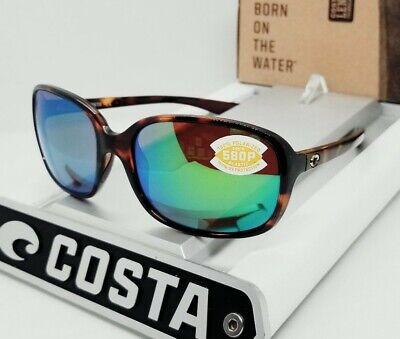 COSTA DEL MAR tortoise/green mirror RIVERTON POLARIZED 580P sunglasses! (Tortoise Sunglasses)