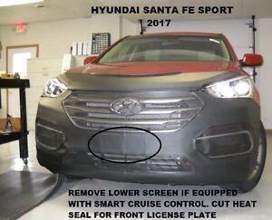 Lebra Front End Mask Cover Bra Fits 2017 2018 Hyundai Santa Fe Sport