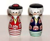 Antique Ceramic Salt and Pepper Shakers