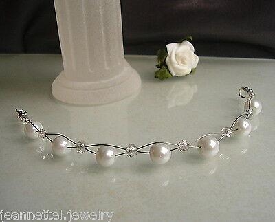 Neu~Haarschmuck mit Perlen in weiß *Hochzeit*
