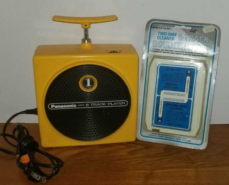 Vintage Yellow Panasonic Dynamite TNT 8 Track Tape Player RQ-83OS TESTED WORKS