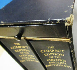 Oxford English Dictionary, Compact Edition 1971, 2 Volumes Set Stratford Kitchener Area image 8