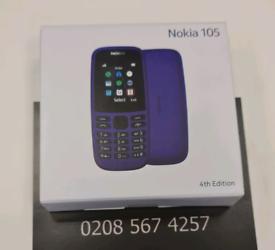 NOKIA 105 SINGLE SIM BLACK 4TH GEN BRAND NEW SEALED