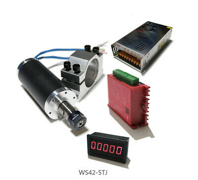 Cnc Brushless Spindle Motor Driver With Mount Bracket Tachomete Power Supply