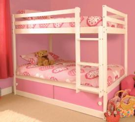Bunk bed with mattresses andunderneat. Delivery available extra cost