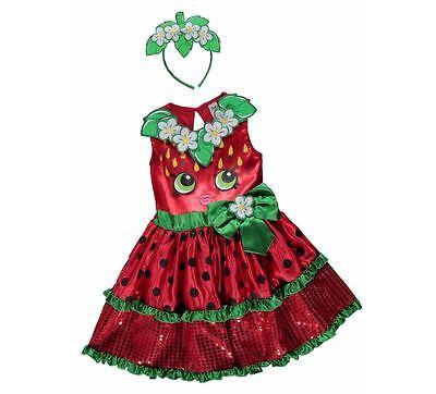 George Shopkins Kinder Mädchen Erdbeere Kiss Kostüm Kleid - Erdbeer Outfits