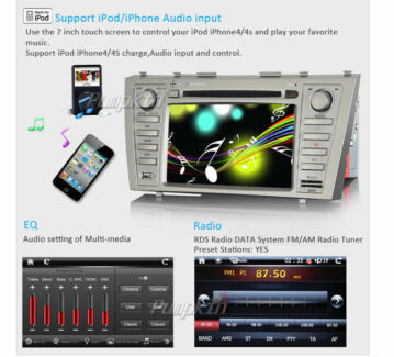 "7"" Car Stereo DVD Head Unit GPS For Toyota Camry Aurion Camry Blackburn Whitehorse Area Preview"