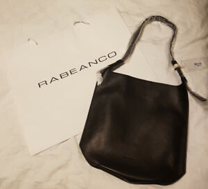 Rabeanco Black Leather Shoulder Bag