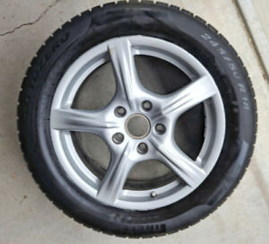 "Porsche OEM 18""  winter wheel & Pirelli tire package"