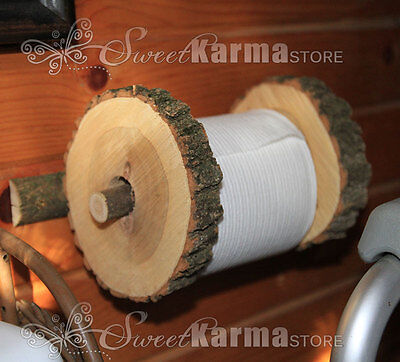 Real Wood Toilet Paper Holder for Rustic Western Decor Bathroom, Cabin or Camper