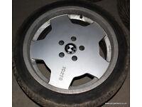 "BMW 5x120 RH Topline 18"" x10j Alloy Wheels & Tyres E39 fitment E38 E60 E34 E90 E92"