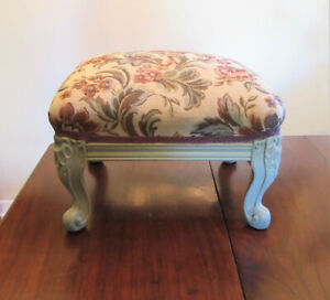 Vintage Foot Stool Pouf Louis XV style