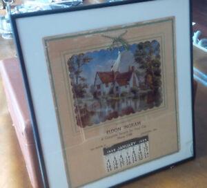 Framed Calendar: Eldon Ingram, Stratford, 1959