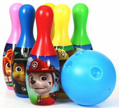 Paw Patrol Bowling Set Toy Game Kids Birthday Gift Toy 6 Pins &1 Ball