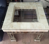 Marble and Glass End Tables (set of two)