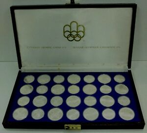 Complete set of Montreal Olympic Silver Coins in case $800.00