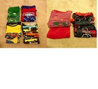 6 pairs of size 2T boys long-sleeve pajamas