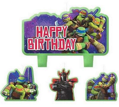 Decorative Teenage Mutant Ninja Turtles Molded Cake Candle Set (4 piece) -171194 - Teenage Mutant Ninja Turtles Cake Decorations