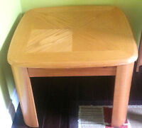 Two wooden side tables for sale