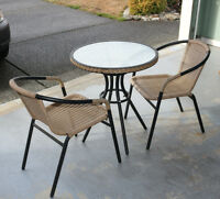 3 piece Bistro set  table and 2 chairs