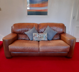 Barker and Stonehouse leather 3 seater sofa