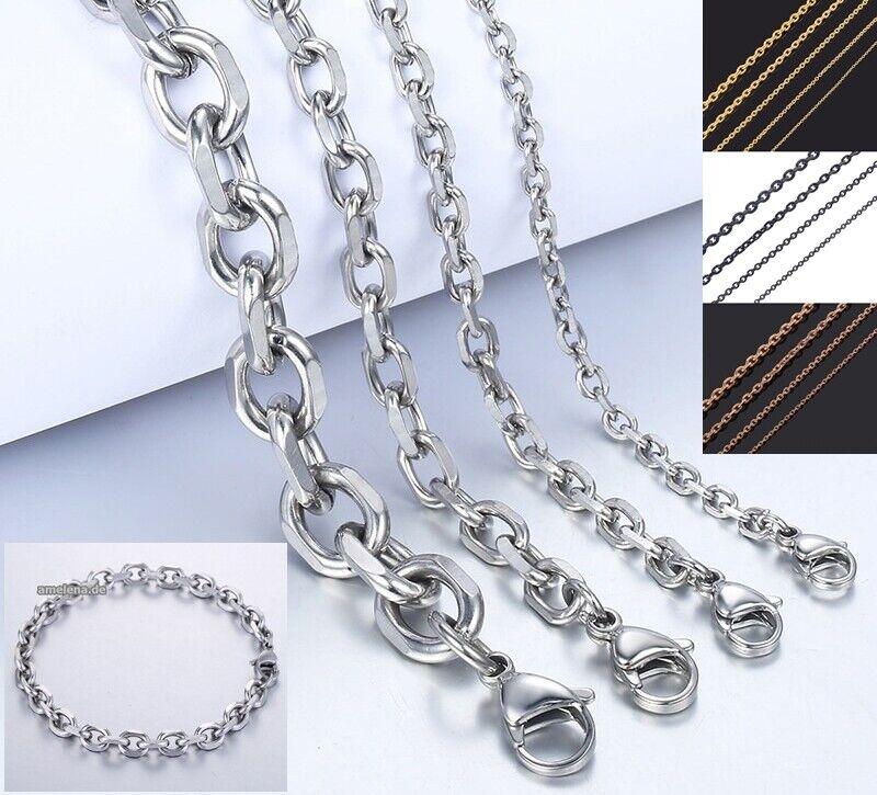 Ankerkette Anker-Armband Edelstahl Massiv 10-100 Halskette Damen Herren Geschenk