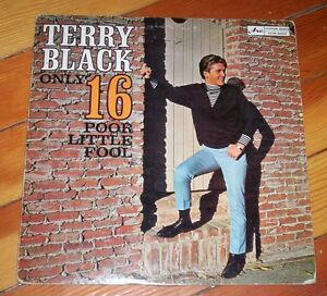 rare vinyl record album TERRY BLACK Only 16