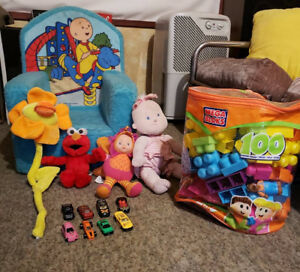Caillou Soft Foam Children Chair and other toys