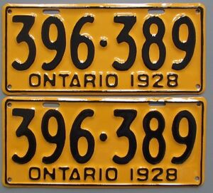Classic Car YOM License Plates - Ministry Approval Guaranteed Kitchener / Waterloo Kitchener Area image 1