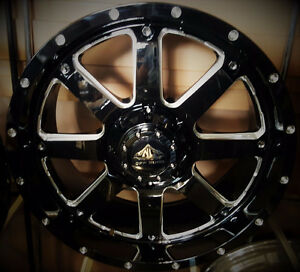 "NEW! 20"" black/milled - F150 1500 CHEVY FORD DODGE TUNDRA"