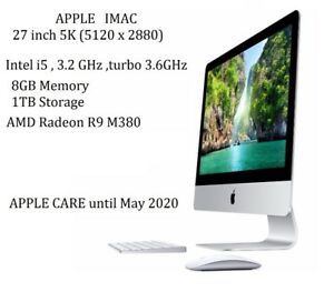 APPLE IMAC 27 Retina 5K i5 3.2GHZ 8GB, 1TB APPLE CARE 2 YEARS
