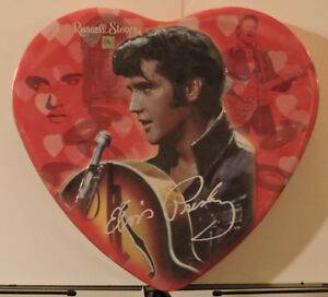 Russell Stover Chocolates Heart Shaped Tin Elvis Artwork