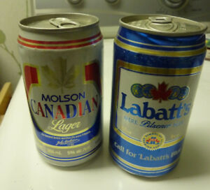 Two Vintage Cans of Canadian Beer