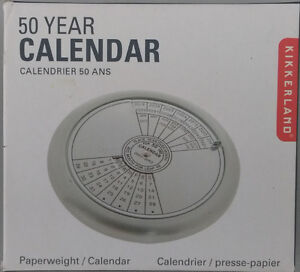50 Year Calendar / Paperweight by Kikkerland