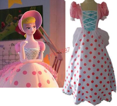 Moive Toy Story Bo Peep dress Halloween Cosplay Costume Anime Custom Made - Bo Peep Toy Story Costume Adults
