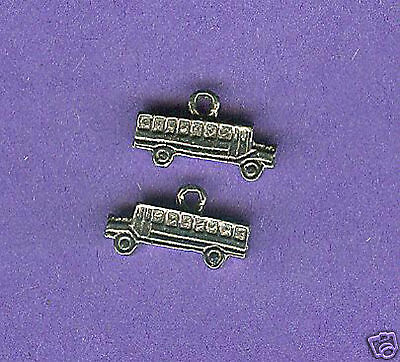 100 wholesale lead free pewter school bus charms 1216