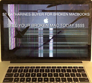 PAYING CASH FOR YOUR BROKEN MACBOOK SAME DAY!