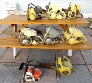 Lot 7 Antique Chainsaws Pioneer McCulloch Stihl Nice!