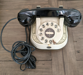 White Belgium table phone