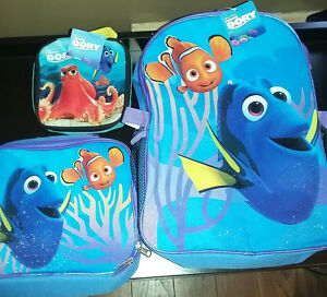 finding dory bookbag lunch tin and snack bag