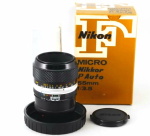 NIKON MICRO NIKKOR 55MM 3.5 MACRO LENS - MINT IN BOX WITH ACC!