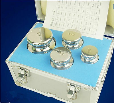 F1 Grade 1kg-5kg Precision Stainless Steel Scale Calibration Weight Kit Set Ts
