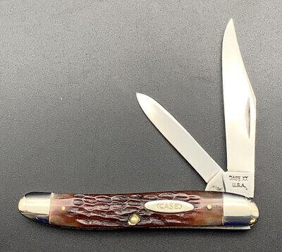Vintage CASE XX RED BONE JACK KNIFE, 62087, NO DOT, 1965-1969 Near Mint