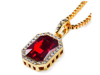 Ruby necklace! 18k Gold chain included £20 :) As seen on celebrities