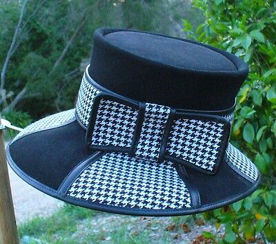 AUSTRALIAN HAND MADE LEATHER LADIES' FORMAL / SPRING RACES HAT