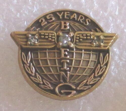 Vintage Boeing 25 Year Company Service Award Pin - 10K GF